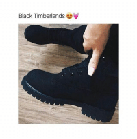 Memes, Timberland, and 🤖: Black Timberlands Need a pair for school tbh