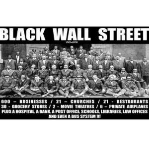 Community, Homeless, and Post Office: BLACK WALL STREET  600-BUSINESSES/ 21 -CHURCHES I 21 - RESTAURANTS  30 GROCERY STORES 2 MOVIE THEATRES 6 PRIVATE AIRPLANES  PLUS A HOSPITAL, A BANK,A POST OFFICE, SCHOOLS, LIBRARIES, LAW OFFICES  AND EVEN A BUS SYSTEM!!! officialblackwallstreet:  In honor of #ThrowbackThursday:By the 1920s, the racially divided community of Tulsa, Oklahoma became the mecca for Black entrepreneurs known as #BlackWallStreet. Due to segregation, blacks developed and supported their own businesses creating one of the most prosperous African American communities in the country. Hundreds of Black-owned businesses lined Greenwood Avenue until June 1, 1921 when the deadliest race riot in US history lead to the destruction of these businesses, claiming the lives of as many as 300 Blacks and leaving over 9,000 homeless.Remaining Black Tulsans rebuilt the area (without assistance from the state), and by 1942, Greenwood saw a resurgence of more than 240 businesses.