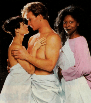"Funny, Target, and Tumblr: blackzagan:  bumbleshark:  bumbleshark: idk why this photo of ghost (1990) is so funny to me. do you think they were trying to get her shirtless too and whoopi just said ""nah im good""  reblog for sfw whoopi goldberg   sfw means safe for whoopi"