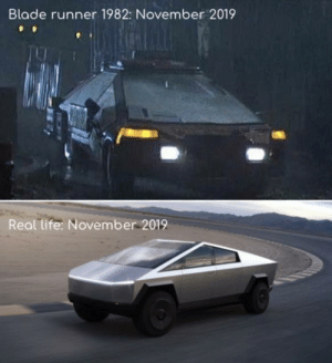 srsfunny:  Blade Runner was right: Blade runner 1982: November 2019  Real life: November 2019 srsfunny:  Blade Runner was right