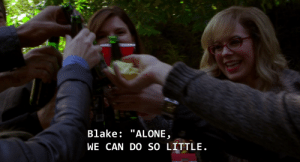 """Being Alone, Target, and Tumblr: Blake: """"ALONE  WE CAN DO SO LITTLE bauunitchief:  Never forget that one time the BAU made a toast, and instead of a drink, Spencer Reid lifted a handful of potato chips."""