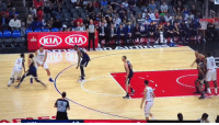 Blake Griffin, Memes, and 🤖: Blake Griffin dunks on Rudy Gobert then hangs on the rim like Shawn Kemp https://t.co/olg3uNCybH