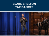 """Dancing, Target, and youtube.com: BLAKE SHELTON  TAP DANCES   <p>During the Lip Sync Battle,<a href=""""http://www.youtube.com/watch?v=lY9cUsTtPKA"""" target=""""_blank"""">Blake Shelton showed off his tap-dancing skills!</a></p>"""