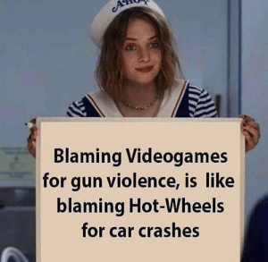 Hot Wheels, Gun, and Car: Blaming Videogames  for gun violence, is like  blaming Hot-Wheels  for car crashes While I harvest my crops