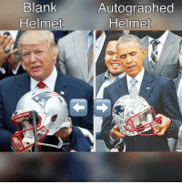 Blank  Autographed  Helmet  Helmet One of these people is not respected like the other...