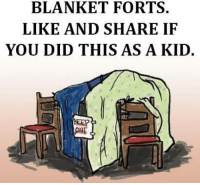 Who remembers?: BLANKET FORTS.  LIKE AND SHARE IF  YOU DID THIS AS A KID. Who remembers?