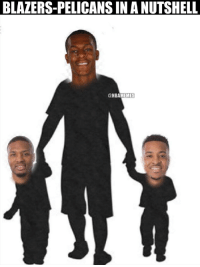 Nba, School, and Blazers: BLAZERS-PELICANS IN A NUTSHELL  @NBAMEMES An NBA champion taking the Blazers boys to school. https://t.co/RpeoC7Ge6T