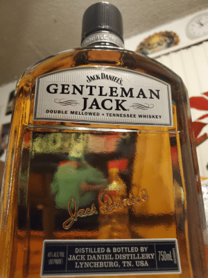 It's been a long time ......: BLE  JACK DANIEL'S  GENTLEMAN  JACK  DOUBLE MELLOWED TENNESSEE WHISKEY  10028668  DISTILLED & BOTTLED BY  JACK DANIEL DISTILLERY hlm  LYNCHBURG, TN. USA  40% ALC/VOL  (80 PROOF)  10028689FD It's been a long time ......