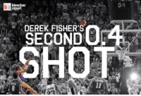 On this day 13 years ago, Derek Fisher made the famous 0.4 second shot in game 5 against the Spurs.  #BhartiyaMamba #WWLG4L: bleacher  report  DEREK FISHER'S  0.4 On this day 13 years ago, Derek Fisher made the famous 0.4 second shot in game 5 against the Spurs.  #BhartiyaMamba #WWLG4L