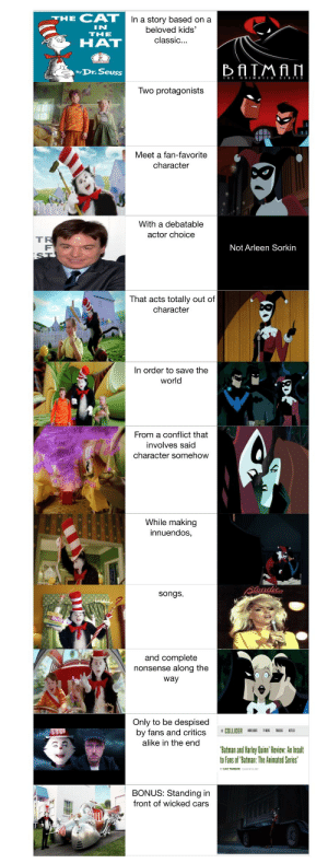 """Blessed comparison between """"Batman and Harley Quinn"""" and """"The Cat in the Hat"""": Blessed comparison between """"Batman and Harley Quinn"""" and """"The Cat in the Hat"""""""