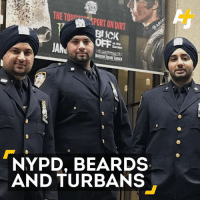 Beard, Memes, and Nypd: Blick  atthe  JANu  NYPD, BEARDS  AND TURBANS These boys in blue will now be able to rock their turbans. 👏