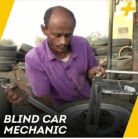 Meet Youssef, a blind Yemeni man who also happens to be a skilled car mechanic.: BLIND CAR  MECHANIC Meet Youssef, a blind Yemeni man who also happens to be a skilled car mechanic.