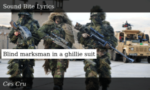 SIZZLE: Blind marksman in a ghillie suit