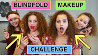 I think I have 2 go w #TeamOlacie 😂 Sorry Madison & Sierra! It was the lipstick on Madison's chin!  Haschak Sisters Watch HERE:  https://youtu.be/N1ZpWVtB5No: BLINDFOLD MAKEUP  CHALLENGE I think I have 2 go w #TeamOlacie 😂 Sorry Madison & Sierra! It was the lipstick on Madison's chin!  Haschak Sisters Watch HERE:  https://youtu.be/N1ZpWVtB5No