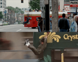 At the beginning of Rush Hour (1998), Chris Tucker briefly recreates one of Jackie Chan's more famous stunts from Police Story (1985): BLO  INTERSEC  PARK  SINCE1  BD  1.50 EA 15 MIN  6.00 MAXIMUM  Park& Lock  Cryst At the beginning of Rush Hour (1998), Chris Tucker briefly recreates one of Jackie Chan's more famous stunts from Police Story (1985)