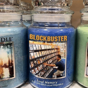 Mmmmm…Smells Like Late Fees: BLOCKBUSTER  DLE  AAI  Fond Memory  B.O and weird carpet fragrance  d amber Mmmmm…Smells Like Late Fees