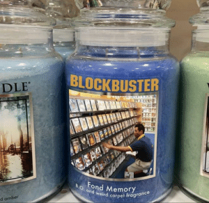 Fond Memory Yankee Candle Scent: BLOCKBUSTER  DLE  ESAR  B.O. and weird carpet fragrance  Fond Memory  d amber Fond Memory Yankee Candle Scent