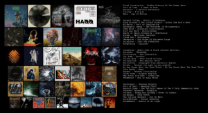 Top 40 metal albums of 2019 according to RYM rating (left to right): Blood Incantation  Hidden History Of The Human Race  mgła  AGLOGYETAPes ce ONY CY  Cult of Luna - A Dawn to Fear  Esoteric - A Pyrrhic Existence  Liturgy - H.A.Q.Q.  Mgła  ThendcoorN  Age of Excuse  HAQQ  Serpent Column - Mirror in Darkness  King Gizzard & The Lizard Wizard - Infest The Rat's Nest  Wilderun  ESOTERIC  - Veil of Imagination  AGE OF EXCUSE  Deathspell Omega  - The Furnaces of Palingenesia  Tomb Mold - Planetary Clairvoyance  Blut aus Nord - Hallucinogen  Waste of Space Orchestra -  Syntheosis  Spiritual Instinct  Pollinator  Alcest -  Cloud Rat  The Palms Of Sorrowed Kings  Obsequiae  Galneryus  Misþyrming  INTO THE PURGATORY  Algleymi  cloud rat  ob8cquIAC  Insomnium - Heart Like A Grave (Deluxe Edition)  Batushka - Панихида  ITO THE  Disillusion - The Liberation  Car Bomb  Yellow Eyes  Teitanblood  - Mordial  Rare Field Ceiling  The Baneful Choir  Mortiferum -  disgorged from psychotic depths  - Jeszcze nie mamy na was pomysłu  GALNERS  Gruzja  No One Knows What the Dead Think - No One Knows What The Dead Think  na  hAT  Idle Hands - Mana  Cadaver Circulation  Krypts  Sulphur English  - Cosmicism  Inter Arma  INSOENEUS  The Great Old Ones  Véhémence  Par le Sang Versé  Obscene Majesty  Weeping Choir  The Telluric Ashes Of The Ö Vrth Immemorial Gods  Devourment  Full of Hell  Esoctrilihum  Funereal Presence - Achatius  Vothana - Không Bao Giờ Nộp / Never To Submit  Borknagar  The Callous Daoboys  Arch/Matheos  Schammasch - Hearts of No Light  - TRUE NORTH  - Die On Mars  Winter Ethereal Top 40 metal albums of 2019 according to RYM rating (left to right)