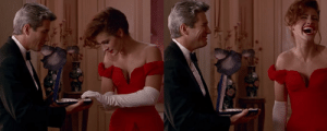 Blooper: in Pretty Woman (1990), Julia Roberts is more of what you'd call a handsome woman: Blooper: in Pretty Woman (1990), Julia Roberts is more of what you'd call a handsome woman
