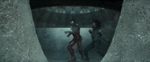 Friends, Guns, and Soldiers: blossomsinthemist: darkangelalex:  starkwest:   That nerfing they gave Tony in Civil War is looking more and more ridiculous.  He can take on a Titan. Be the only one to make Thanos bleed, But two Super Soldiers, one of whom he incapacitates early, can take him out? Nope. Not buying it.  Most ridiculous power nerfing ever.   Think about it this way: Tony didn't really want to hurt them  I don't see this as nerfing at all; I agree with the above poster, that he didn't want to hurt them. I think it just shows that Tony was holding back, because he really doesn't want to hurt them, deep down, no matter how upset he is. I mean he's so restrained with his repulsors; he really barely uses them, when usually they're the mainstay of his fighting style. I actually really liked this, because it's basically how he fought Steve in the comics Civil War. He holds back, visibly, because he has Extremis at the time and could have just destroyed him. He's not going all out. He's not going to, not against them. It might even be partially instinctive on his part, but deep down, Tony's just never going to bring his biggest guns against his friends. Like how he let Rhodey beat him up in IM2.