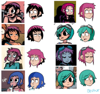 Target, Tumblr, and Blog: blu-fruit:  so i drew a bunch of ramonas based on a bunch of icons i found cause its fun trying out different hairstyles and expressionsbtw icons by: @honey-lemon-green-tea i think