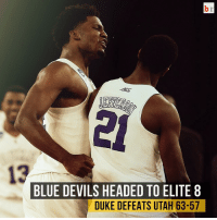Duke is Elite8 bound! They take care of Utah and now have a date with Gonzaga! 🏀: BLUE DEVILS HEADED TO ELITE 8  DUKE DEFEATS UTAH 63-57 Duke is Elite8 bound! They take care of Utah and now have a date with Gonzaga! 🏀