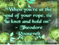 """Memes, 🤖, and Rope: BML  TIONS  OWhen you're at the  end of your rope, tie  a knot and hold on""""  Oheodore  oosevelt  ttps://www.facebook m/pages/Strength-in-Our-Weakness-Invisible-Ill  3 Prayer and Support-Page/470423846358 149 Been at the end of my rope for a while....hanging on by a very brittle thread....."""