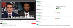 """Ran into a recent comment section with lefties celebrating the """"impeachment of Trump next week"""", not realizing the video was from 2017: Bn 3 weeks ago  Where you vote at to impeachment. The devil! Let's pray for that impeach So God will no and leave in God hands trump God see everything you saying and doing to his peoples that he brought  her. Not you  REPLY  3weeks ago  .Polloo-1 month ago  Will the American people get to vote I sure hope so  Sir you will be doing the right thing. I am so tired of this demon lying their.God bless  REPLY  REPLY  aas 1 month ago  How soon  It's about time, sir! Stop this train wreck before we endure more casualties  REPLY  ES.  RIS HAYES  REPLY  month ago  iz 3 months ago  Finally! Thank you!!  GO MUELLER RIGHT ON  19 REPLY  REPLY  Ho onales 2 months ago  IMPEACHMENTMSNBC  Congressman Al Green, Thank you sir for your Courage your loyalty the Honor you are showing at this time for all the people of this Great Country. A Country sir, my father my uncles my  brothers now I fight for. May God Bless you And Protect you sir  REPLY  1 week ago  wee%i. 2 months ago  It's time Trump. He's got to go Jan. IS JUST DAYS AWAY  Impeach greene ASAP  2:37/5:46  REPLY  REPLY  Vote To Impeach President Donald Trump Will Happen Next Week: Rep. Al Green   All In I MSNBC  aMClain 2 months ago  Call your Reps (TO IMPEACHMENT TRUMP)  215,682 views  REPLY  SUBSCRIBE 1.5M  Published on Nov 30, 2017  Impeachment was designed for times such as this and presidents such as Trump,"""" says  Congressman Al Green, who plans to bring impeachment up for a vote next week.  Impeach him, his not qualify to run our country. We don't need a president that can't keep his word to his country. The wall is not needed, theirs a lot off technology to stop entering into our  country. He also has a temper. He a miserable man. Know respect for anyone. Out out Out you you go. Talking about inmigrantes when you had them working in your home with out papers.  How dare you. I vote to impe"""