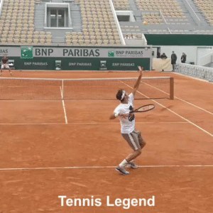Roger Federer is a wizard 🤯 (via @TennisLegende) https://t.co/HPtyE5ubfY: BNP PARIBAS B  BASB  BNP PARIBAS  BNP PARIBAS  BNP PARIBAS  Tennis Legend Roger Federer is a wizard 🤯 (via @TennisLegende) https://t.co/HPtyE5ubfY