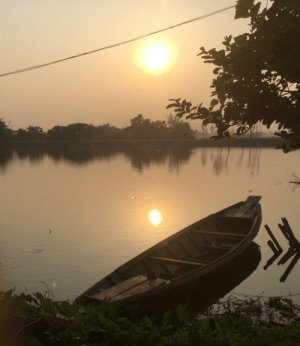 Boat + sunset picture I took in Bangladesh: Boat + sunset picture I took in Bangladesh