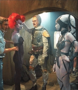 Jedi, Return of the Jedi, and Boba Fett: Boba Fett without a helmet during the filming of Return of the Jedi