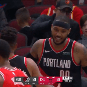 Carmelo Anthony!   25 PTS (season-high) 50% FG (season-high) 8 REB (season-high) 4 3PT (season-high) 2 AST 1 STL  https://t.co/A9YXzZqfd7: BOFREEZE  PORTLAND  1:27 24  POR  89 CHI  THIRD QTR  TO 3  FLS 3  TO 5  FLS 2 Carmelo Anthony!   25 PTS (season-high) 50% FG (season-high) 8 REB (season-high) 4 3PT (season-high) 2 AST 1 STL  https://t.co/A9YXzZqfd7