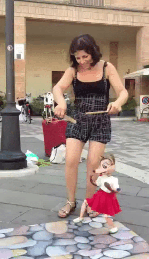 "bogleech: dinosaur-joshua:  sanpellegrino-s:  askinfresh:   teamnowalls: this is literally how i dance  This went from ""wow that's pretty neat"" to ""WTF ITS ALIVE"" real quick   she did that  Scenario: You are watching this puppet show, and then after the song is over, the puppeteer smiles at you as if to thank you for your support, then her and the wooden mouse depart in opposite directions.   If this thought hadn't crossed anyone's mind watching this already, re-watch it taking into consideration that gravity exerts an unpredictable chaos on dangling objects, that the puppet's own wobbliness is most of the movement we see here and this woman simply has that flawless of a feel for how physics will continue moving the limbs at the slightest single twitch of her finger. This is a real deal fucking puppeteer no matter what her background or how long she's been doing it. That wooden mouse is an appendage of this woman's soul. : bogleech: dinosaur-joshua:  sanpellegrino-s:  askinfresh:   teamnowalls: this is literally how i dance  This went from ""wow that's pretty neat"" to ""WTF ITS ALIVE"" real quick   she did that  Scenario: You are watching this puppet show, and then after the song is over, the puppeteer smiles at you as if to thank you for your support, then her and the wooden mouse depart in opposite directions.   If this thought hadn't crossed anyone's mind watching this already, re-watch it taking into consideration that gravity exerts an unpredictable chaos on dangling objects, that the puppet's own wobbliness is most of the movement we see here and this woman simply has that flawless of a feel for how physics will continue moving the limbs at the slightest single twitch of her finger. This is a real deal fucking puppeteer no matter what her background or how long she's been doing it. That wooden mouse is an appendage of this woman's soul."