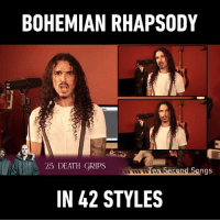 Dank, David Bowie, and Death: BOHEMIAN RHAPSODY  25 DEATH GRIPS  en Secand Songs  IN 42 STYLES The David Bowie style is so good! By Ten Second Songs