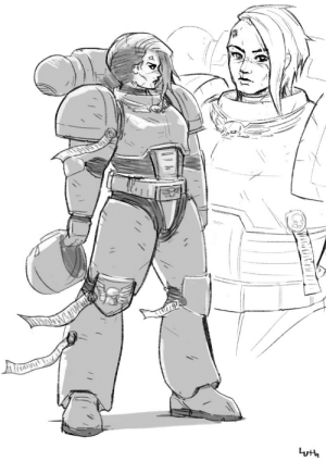 boltertokokoro:    Female Space Marine. Not sure if I posted this anywhere before. Another file I found in my old work folder. I just thought it was a fun idea to draw.  : boltertokokoro:    Female Space Marine. Not sure if I posted this anywhere before. Another file I found in my old work folder. I just thought it was a fun idea to draw.