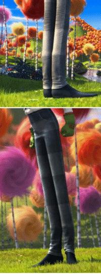God, How High, and Oh My God: bonehatter:  Alright so I was watching The Lorax with my friend Kayla today and noticed I have reason to believe now that Once-ler's shoes are actually boots this has for some reason really gotten to me just oh my god look at the crease in his pants? The bend? Normal legs don't do that of course and it just looks like they sort of push out for the rim of well boots look how high they are shit