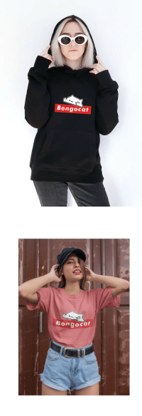 Supreme, Tumblr, and Blog: Bongocat   Bongocaf bongocatfans:  Bongocat Supreme Hoodie or pink shirt  Get it here…