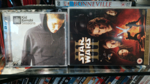 [OC] I was most pleased with the density of prequelesque content at this charity shop. [you are a young one]: BONNEVILLE  Kid  Kenobi  Sessions  CNS  CLUS  DVD  IDE  DD  UBDETO  8BCDND  OVD  VILOD  BO  2828  STA  OCEA  FUG  OCEAN'  GATE  ECUTIVE DECIST  THE  ISLA  Mec  4  ny Tiernan  WIZOBI  HO RIBLE B  IFE  STAR  WARS  oinistryofsond.as  REVENGE OF THE SITH  LOTEL  DIGITAL LYTHX M AS TERE D  FOR SUPERIOR SOUND  CAT275 312  IVIIMIUIN/UN  TM  2 DI CS  AND PICTURE QUALITY  CESOUND  ISINN  R  DVD  o a o  DVD  VIDEO  8795  HFD [OC] I was most pleased with the density of prequelesque content at this charity shop. [you are a young one]