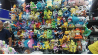 Boo and I went to an extremely large fair and stumbled across this absolute treasure trove of Pokemon plushies.   There were so many plushies we've never seen anywhere else (along with plenty of Alolan versions and shinies too) that we had trouble leaving quite a few of them behind. We were squealing like little kids, and I ended up having to flip a coin multiple times to decide whether or not we could buy something.  ... Pictures of our loot to come.  - Sabrina  Edit: They're at K-Days in Edmonton in the vendor hall. The name of the company is Tenshi Hobby & Entertainment and they work dealer events like expos, cons, and fairs in Canada. JUST SO YOU GUYS KNOW. ~ Boo: Boo and I went to an extremely large fair and stumbled across this absolute treasure trove of Pokemon plushies.   There were so many plushies we've never seen anywhere else (along with plenty of Alolan versions and shinies too) that we had trouble leaving quite a few of them behind. We were squealing like little kids, and I ended up having to flip a coin multiple times to decide whether or not we could buy something.  ... Pictures of our loot to come.  - Sabrina  Edit: They're at K-Days in Edmonton in the vendor hall. The name of the company is Tenshi Hobby & Entertainment and they work dealer events like expos, cons, and fairs in Canada. JUST SO YOU GUYS KNOW. ~ Boo
