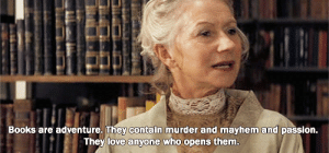Books, Love, and Murder: Books are adventure. They contain murder and mayhem and passion.  They love anyone who opens them. https://iglovequotes.net/