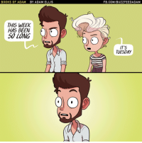 Books, Funny, and Yeah: BOOKS OF ADAM  BY ADAM ELLIS  FB.COM/BUZZFEEDADAM  THIS WEEK  HAS BEEN  SO LONG  IT'S  TUESDAY Yeah