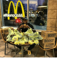 """""""I'll have 6 McYeezy's please"""" Tag a hypebeast 👟🐔👇 (Via @the.real.uncle.sam) @worldstar WSHH: BOOST  BOOST  BOOST """"I'll have 6 McYeezy's please"""" Tag a hypebeast 👟🐔👇 (Via @the.real.uncle.sam) @worldstar WSHH"""