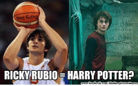 Harry Potter, Memes, and Nba: Booz  RICKY RUBIO E HARRY POTTER?  book  TheHarryPotterMemes Woah! =O Credit: Harry Potter Memes