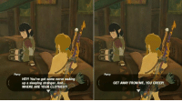 Clothes, Wild, and Sleeping: bor  1004  Parcy  Parcy  HEY! You've got some nerve waking  up a sleeping stranger. And...  WHERE ARE YOUR CLOTHES?!  GET AWAY FROM ME, YOU CREEP! Breath of the Wild has the most realistic dialogue in gaming https://t.co/ogyZVQWvyc