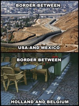 """agentofawesome:  sonofgrim:  gunrunnersarsenal:  bunny-virus:  exoticwaves:  we're such assholes in the US omg  It's not even funny.  Border between """"west"""" and """"east"""" germany…     Border between Australia and everywhere  : BORDER BETWEEN  USA AND MEXICO  BORDER BETWEEN  NL  HOLLAND AND BELGIUM agentofawesome:  sonofgrim:  gunrunnersarsenal:  bunny-virus:  exoticwaves:  we're such assholes in the US omg  It's not even funny.  Border between """"west"""" and """"east"""" germany…     Border between Australia and everywhere"""