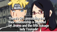 Facts, Memes, and Artist: boruto.facts  Th  their relationship is inspired  Iiy  poss  It  at  y Jiraiya and the fifth hokage  lady Tsunade? Agree or disagree? _ Credit to the artist💕