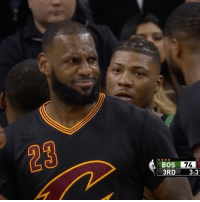 """""""Whose mans is this?"""" -LeBron: BOS 74  3RD  3:3 """"Whose mans is this?"""" -LeBron"""
