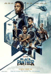 Love, Memes, and Black: BOSEMAN JRGAN NYONG0  GURIRA FREEMANBASSETT WHITAKER SERKI  MARVEL STUDIOS  BLACK  DANTHER  IN CINEMAS FEBRUARY 2018  FROM THE STODIDS THAT BROUGHT YOU THE AVENSERS This is a collection of all the official promotional and concept art for the movie Black Panther.  (Nerds Love Art)