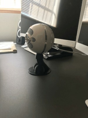 Boss, Microphone, and New: Boss asked if we could 3D print a new stand for his microphone. Engineers complied accordingly