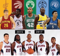 alot can happen in 2 years👀 (via @sofasportsnews ) nba nbamemes: BOSTON  42  2015 vs 2017  PTO  CLEVELAND  26  MINNESOTA  2015  VS  2017  ATLAN ATLA  265 alot can happen in 2 years👀 (via @sofasportsnews ) nba nbamemes